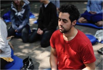 Meditierende, Meditation, Achtsamkeit